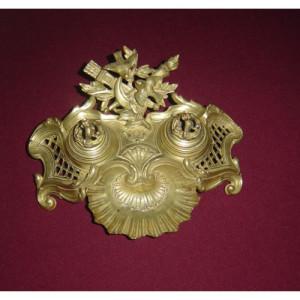 Bronze Inkwell