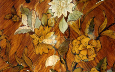 A Pair Of Louis XVI Floral Marquetry Encoignure restoration