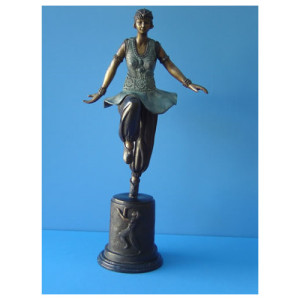 ART DECO DANCER BRONZE STATUE