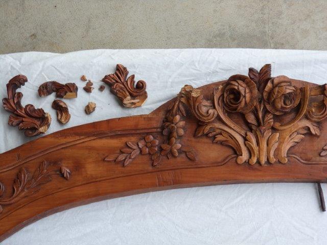 Cherrywod armoire restoration before