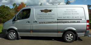 Courtois Restorations work van