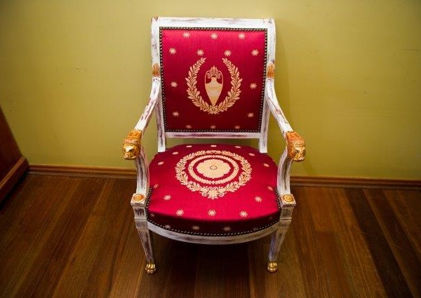 Empire Beech Armchair Reproduction