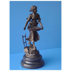 Harvest Girl bronze statue