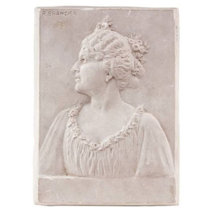 Plaster profile of a lady