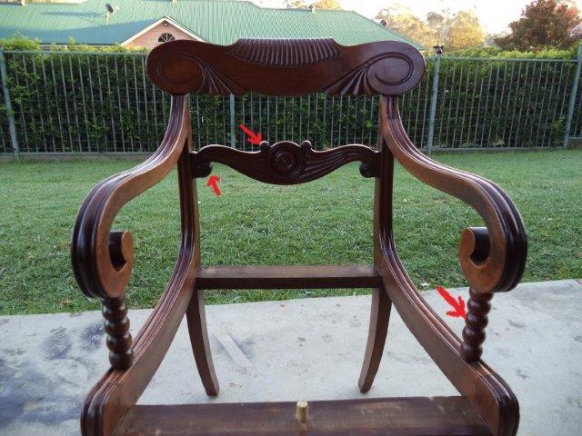 Regency chair front