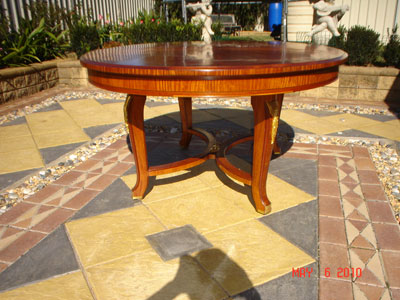Restored extension dinning table & chairs1