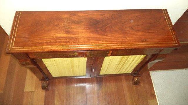 cabinet top restoration after