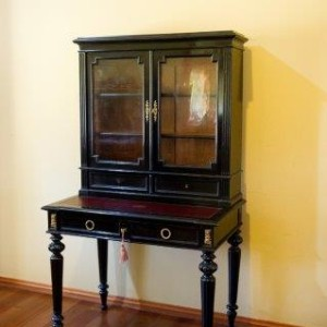 french ebonised bookcase